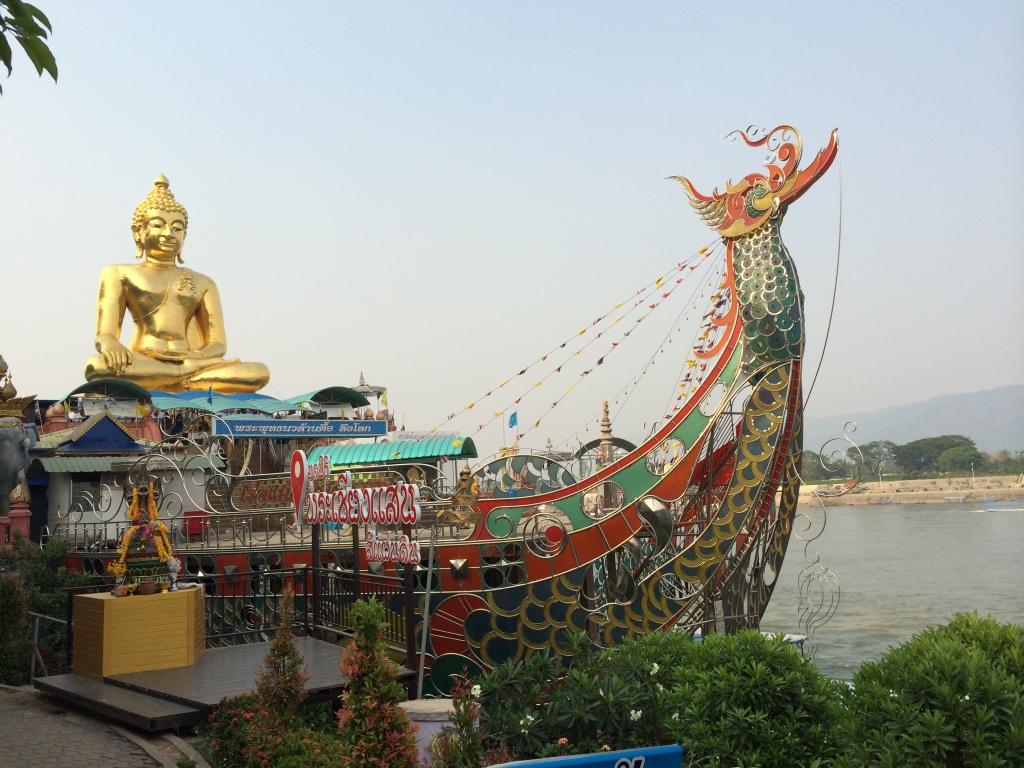 Buddha on a boat