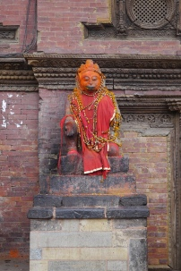 A colorful Hindu idol