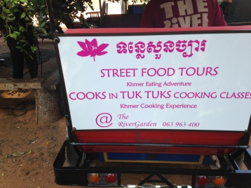Cooks in tuk tuks. Obviously.