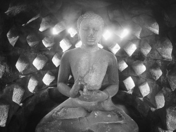 Buddha inside a stupa