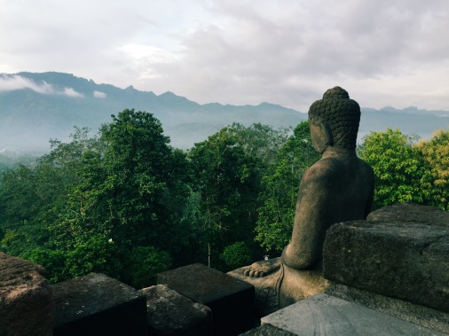 Buddha looking out