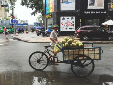 Fresh coconut in Saigon