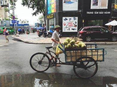 Fresh coconut in Saigon