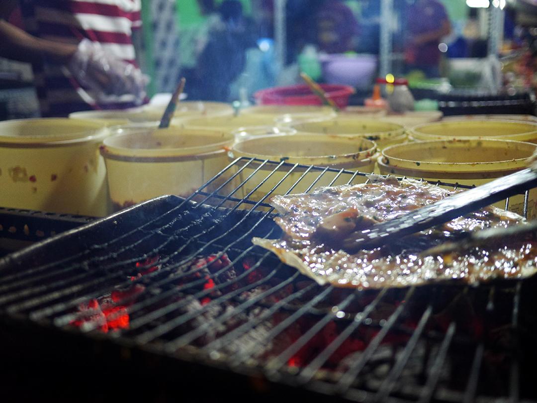 Grilling up a new Bánh Tráng Nướng