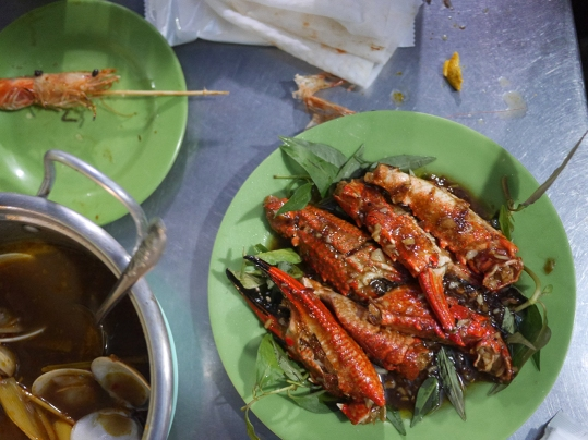 Crab claws with tamarind