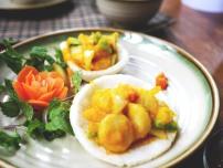 Stir fried scallops