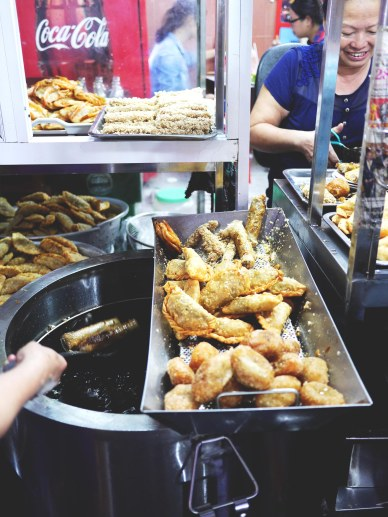 Fried food in Hanoi
