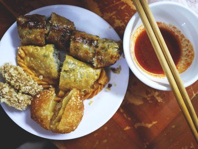 Fried food in Hanoi