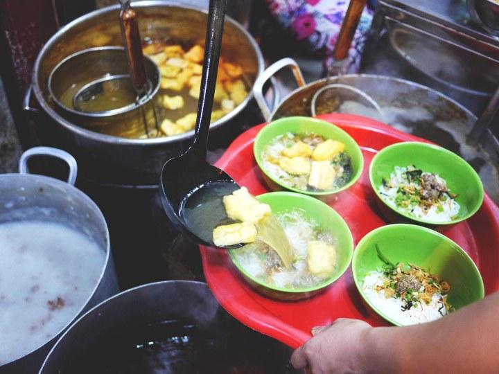 Crab noodle soup