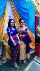 The bride & friend