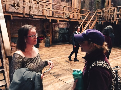 On stage with Sam, part of the Hamilton Chicago company