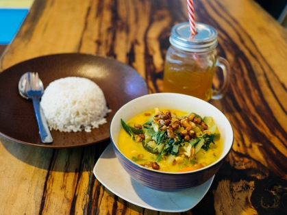Chicken curry at Fusion Cafe