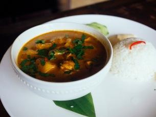Chicken & pineapple curry at Warung Enak