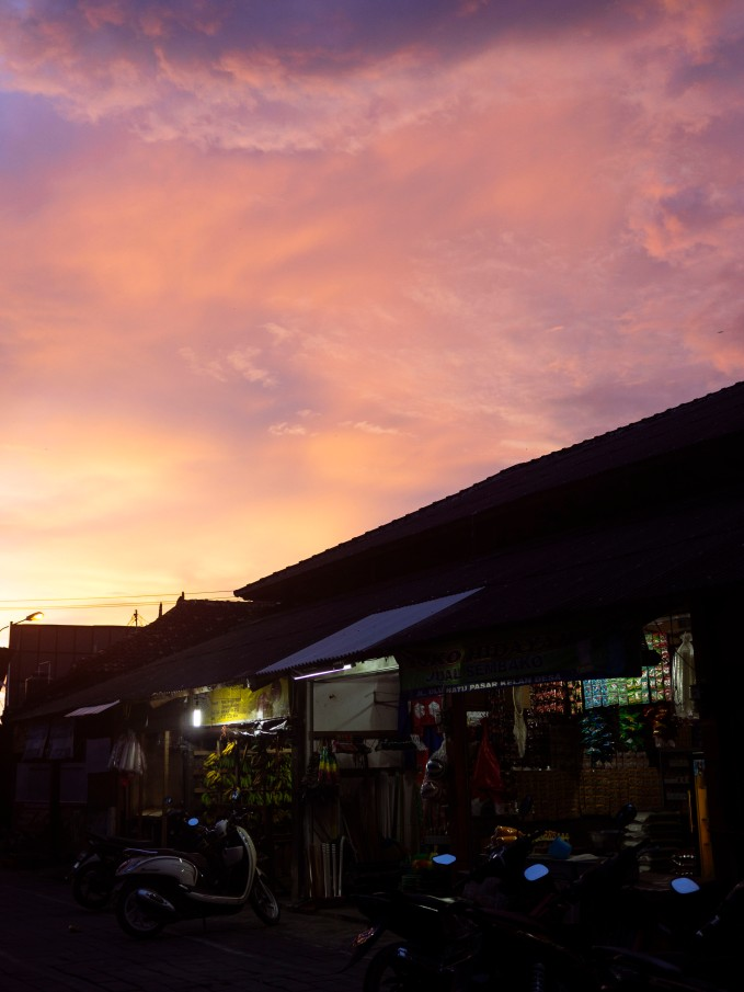 Sunset at the Market