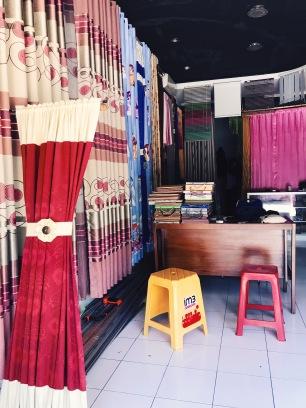 Curtain maker's shop