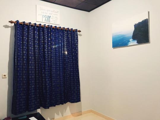 Prayer room curtains