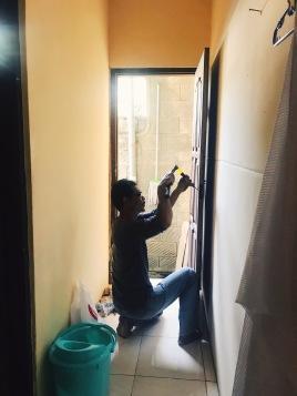 Fixing those door frames