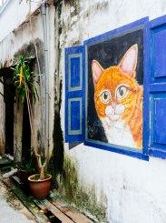 Penang cat street art