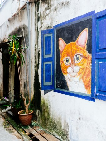 Penang cat street art
